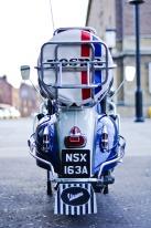Photograph Norfolk Mods Vespa moped in Norwich, Norfolk