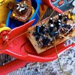 Photograph of broken childrens toy found on wasteland in Norwich, Norfolk
