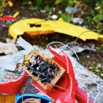 Photograph of broken childrens toy found on wasteland in Norwich, Norfolk