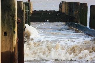 Photograph of Groynes at Corton beach, Lowestoft, Suffolk