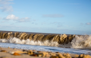 Photograph of Waves at Corton beach, Lowestoft Suffolk