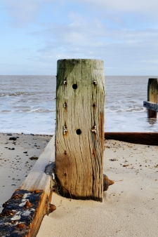 Photograph of Groynes at Corton beach, Lowestoft Suffolk