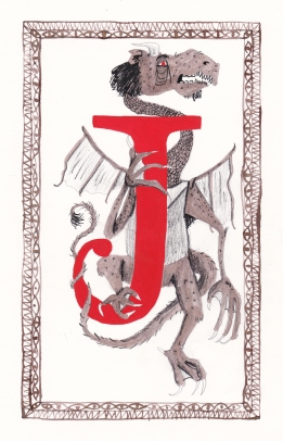 Jabberwocky card back